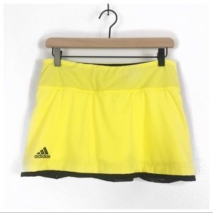 Adidas Climalite Yellow Tennis Skirt Size M